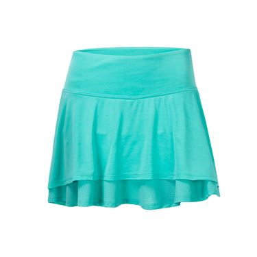 Lija Ruffle My Feathers Laser Skirt - Aqua