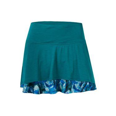 Lija Ruffle My Feathers Laser Skirt - Peacock/Plume Print
