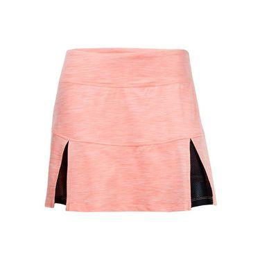 Lija Carmel Horizon Pleat Skirt - Peach Pink/Black