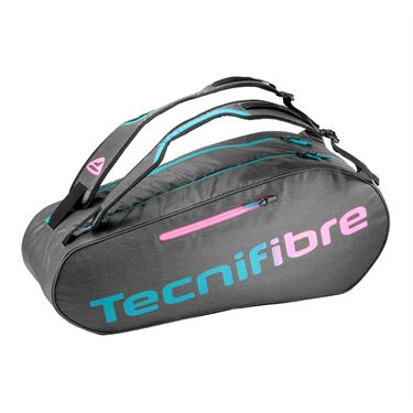 Tecnifibre Rebound Endurance 6 Pack Tennis Bag - Dark Grey/Pink/Aqua