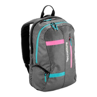 Tecnifibre Rebound Endurance Backpack Tennis Bag - Dark Grey/Pink/Aqua