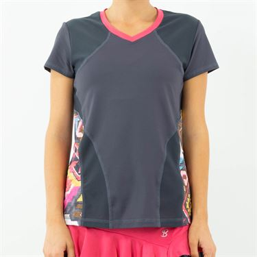 Sofibella Amalfi Short Sleeve Top Womens Grey 1906 GRY
