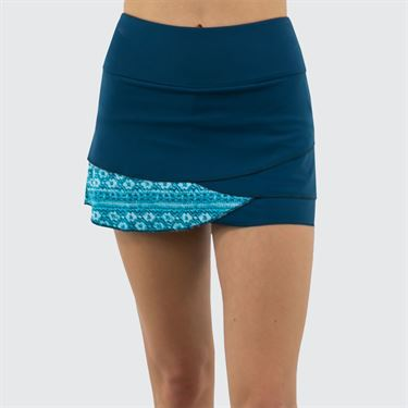 Jerdog Ocean Blues Pace Skirt Womens Teal/Ocean Blues Print 19088 OB2