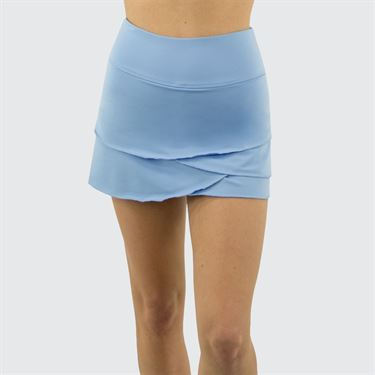 Jerdog Textured Garden Pace Skirt Womens Icy Blue 19088 TG1