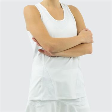 Sofibella Positano Full Back Tank - White
