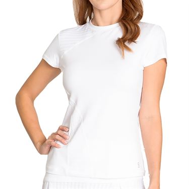 Sofibella Capri Short Sleeve Top - White