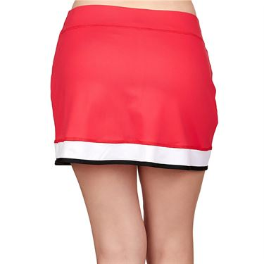 Sofibella Match Point 15 inch Skirt Womens Berry Red/White/Black 1933 BER