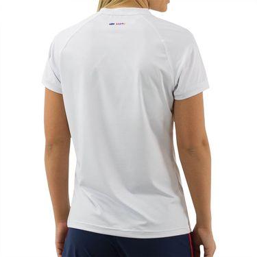 K Swiss Heritage Sport Logo Tee Shirt Womens White 194219 100