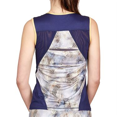 Sofibella Allure Full Back Tank Womens Wild Lapis/Navy 1953 WDL