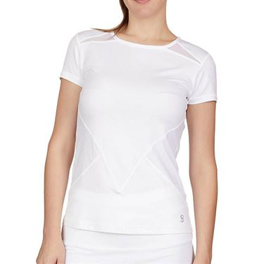 Sofibella Club Lux Short Sleeve Top Womens White 1963 WT