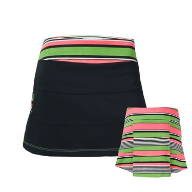 Jerdog Pink Apples All Spin Skirt - Black