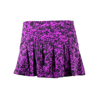 Jerdog Orchid Dream Back Pleat Skirt - Orchid/Eggplant