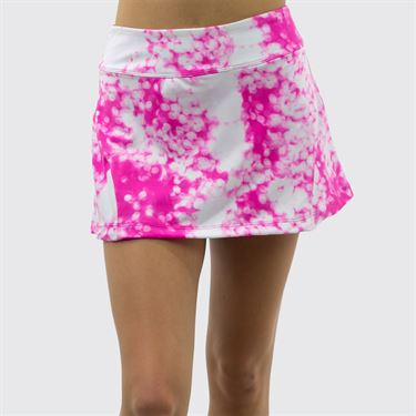Jerdog On the Spot Back Pleat Skirt - Fuchsia Print