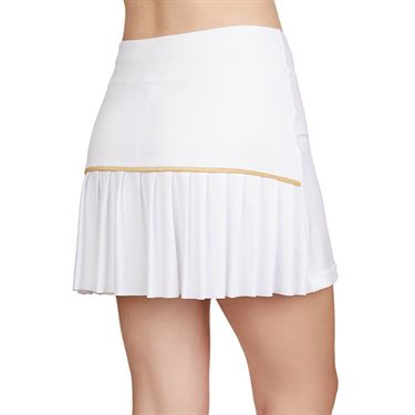Sofibella Club Lux 14 inch Skirt Womens White/Gold 1977 WHT