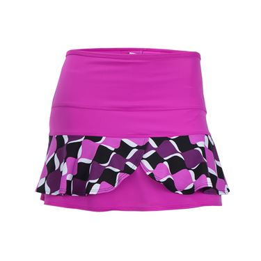 Jerdog Spin Off Double Scallop Skirt - Pink Berry/Print
