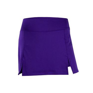 Jerdog Velvet Bouquet Double Slit Skirt - Purple