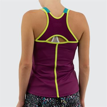 Lija Zest For Life Trainer Tank Womens Pansy/Teal/Lemonata 19A 1611T2