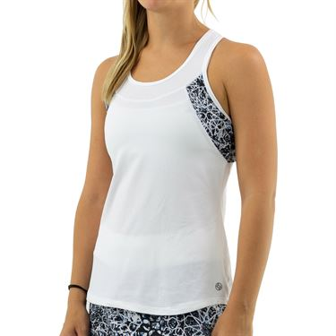 Lija Fuse Pacesetter Tank Womens White/Star Print 19A 1614T5