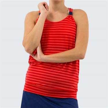 Lija Get In The Game Willow Tank Womens Rio Red/Midnight Blue 19A 1624T3