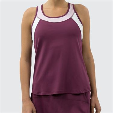 Lija Spring Bloom Pacesetter Tank - Dewberry/Whimsy/Dewberry