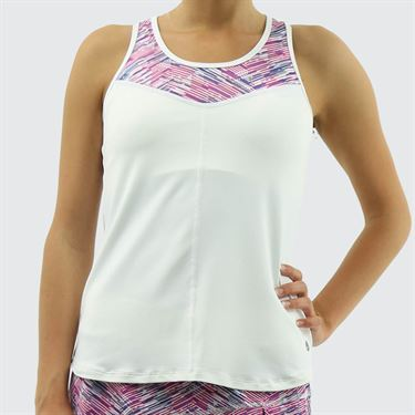 Lija Bright Future Force Tank - White/Matchstick/Regal Blue
