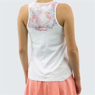 Lija Paradise Found Force Tank - White/Abstract/Limestone