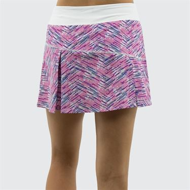 Lija Bright Future Topspin Skirt - Matchstick/White