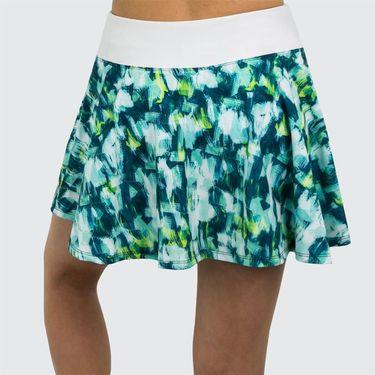 Lija Green Space Highline Skirt - Brushstroke/White