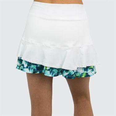 Lija Green Space Center Point Skirt - White/Brushstroke