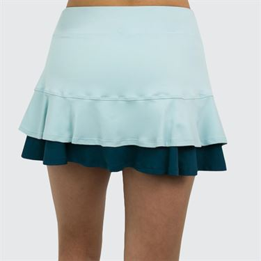 Lija Green Space Center Point Skirt - Starlight Blue/Deep Green