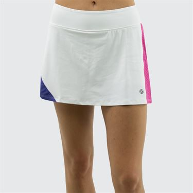 Lija Bright Future Infinity Skirt - White/Raspberry/Regal Blue