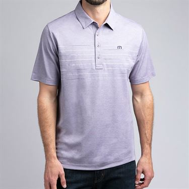 Travis Mathew Good Polo Shirt Mens Purple Sage 1MO118 5HPS