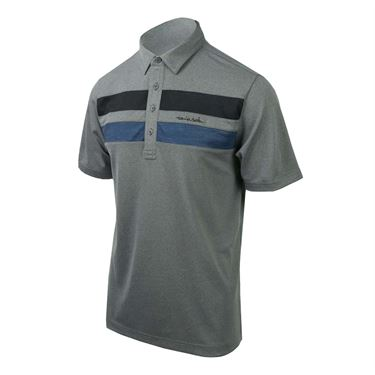 Travis Mathew Big Six Polo - Heather Grey