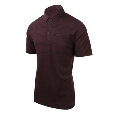 Travis Mathew Cool Beans Polo - Wine Tasting/Black