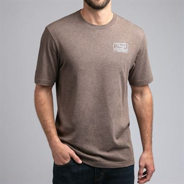 Travis Mathew Dollar Menu Tee Shirt Mens Heather Coffee 1MR204 2HCO