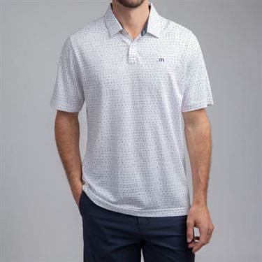 Travis Mathew Right Now Polo Shirt Mens White 1MR341 1WHT