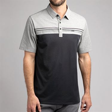 Travis Mathew Backstage Pass Polo Shirt Mens Heather Grey 1MR357 9HGR