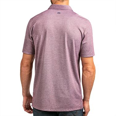 Travis Mathew Lindquist Beach Polo Mens Heather Mauve Wine 1MT030 6HMW
