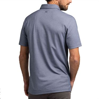 Travis Mathew Resort Living Polo Mens Heather Mood Indigo 1MT037 4HMIû