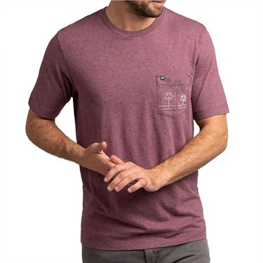 Travis Mathew Off The Radar Tee Mens Heather Mauve Wine 1MT165 6HMWû