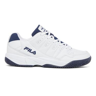 Fila Double Bounce PB Mens Tennis Shoe White/Navy 1PM00001 150