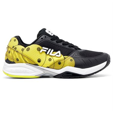 Fila Volley Zone Mens Pickleball Shoe Black/Yellow 1PM00596 016û