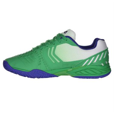 Fila Axilus 2 Energized Mens Tennis Shoe - Bright Green/Surf the Web/Fila Navy