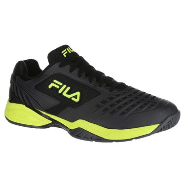 Fila Axilus 2 Energized Mens Tennis Shoe - Black/Ebony/Safety Yellow