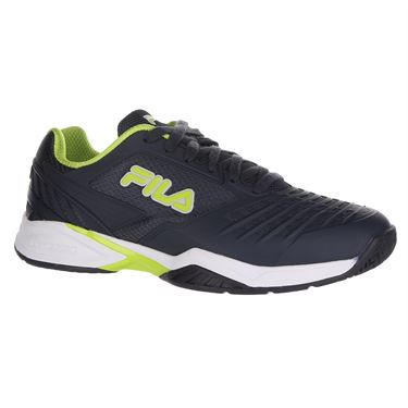 Fila Axilus 2 Energized Mens Tennis Shoe - Ebony/Lime Green/White