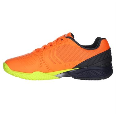 Fila Axilus 2 Energized Mens Tennis Shoe - Shocking Orange/Ebony/Safety Yellow