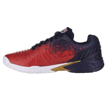Fila Axilus 2 Energized Mens Tennis Shoe Navy/Red/White 1TM00593 422