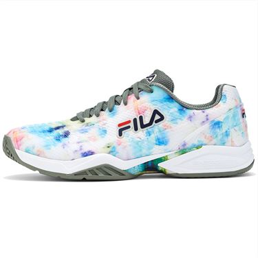 Fila Axilus 2 Energized Mens Tennis Shoe Multi/White/Green 1TM01387 769