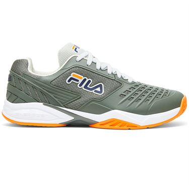 Fila Axilus 2 Energized Mens Tennis Shoe Green/White/Orange 1TM01389 322