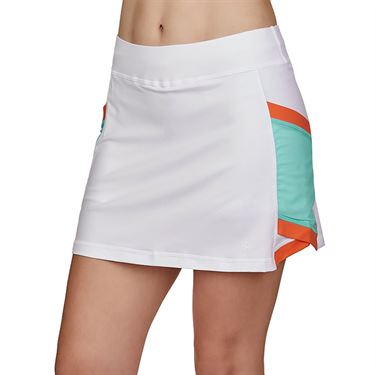 Sofibella Love At First Serve 15 inch Skirt Plus Size Womens White/Sea Breeze Pique 2005 WHTP